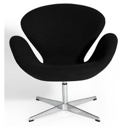 AEON Furniture Baltimore Side Armchair in Black
