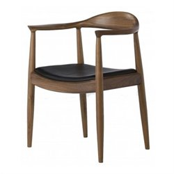 AEON Furniture Saratoga ArmDining Chair in Black and Walnut