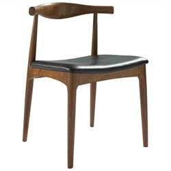 AEON Furniture Troy Dining Chair in Black and Walnut