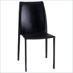 AEON Tamara Stacking Dining Chair in Black (Set of 4)