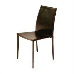 AEON Furniture Tamara Stacking Dining Chair in Brown (Set of 4)