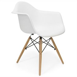 AEON Furniture Dijon -  ArmDining Chair in Matte White (Set of 2)