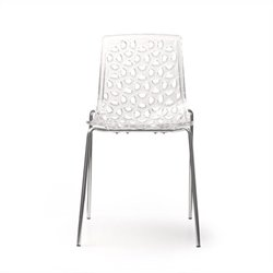 AEON Furniture Dakota Stacking Dining Chair in Clear (Set of 2)