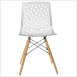 AEON Furniture Sandra Dining Chair in Clear (Set of 2)