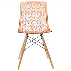 AEON Furniture Sandra Dining Chair in Orange (Set of 2)