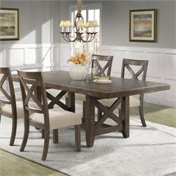 Elements Francis Dining Table in Chestnut