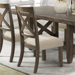 Elements Francis Side Chair in Chestnut (Set of 2)