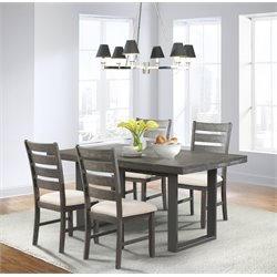 Elements Sullivan 5 Piece Dining Set in Dark Ash