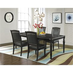 Elements Quinn 5 Piece Dining Set in Dark Espresso