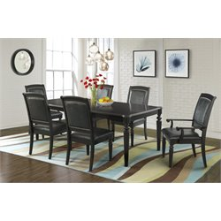 Elements Quinn 7 Piece Dining Set in Dark Espresso