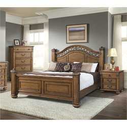Elements Barrow 3 Piece Bedroom Set in Oak