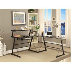 Elements Bueller L Shaped Desk in Black