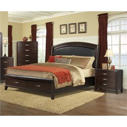 Elements Elaine 3 Piece Bedroom Set in Espresso