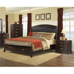 Elements Elaine 3 Piece Bedroom Set in Espresso (No Power)