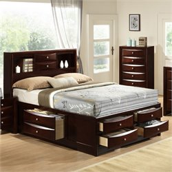 Elements Madison Storage Bed in Mahogany