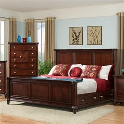 Elements Gavin Storage Bed in Cherry