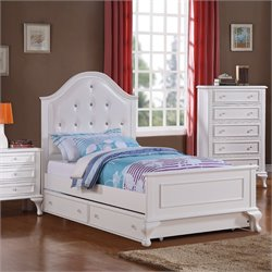 Elements Jenna Bed with Trundle in White