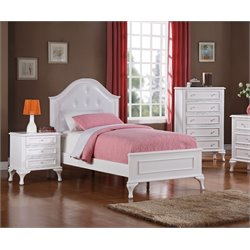 Elements Jenna 3 Piece Bedroom Set in White