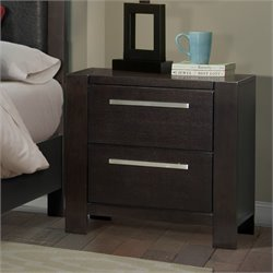 Elements Lydia Nightstand in Mahogany