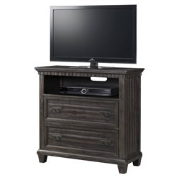 Elements Steele Media Chest in Smokey Gray Oak
