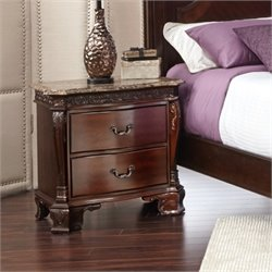 Elements Victoria Nightstand in Dark Chestnut