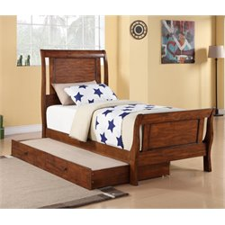 Elements Travis Bed with Trundle in Brown