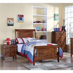 Elements Travis 3 Piece Bedroom Set in Brown