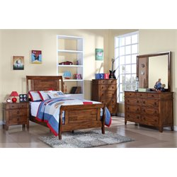 Elements Travis 4 Piece Bedroom Set in Brown
