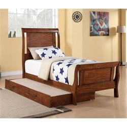 Elements Travis 3 Piece Bedroom Set in Brown (Trundle)