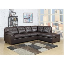 Elements Calvin 2 Piece Sectional in Brown
