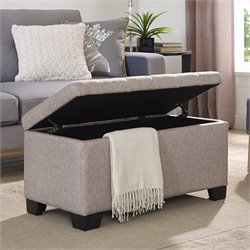 Elements Eli Storage Ottoman in Gray