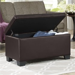 Elements Eli Storage Ottoman in Brown