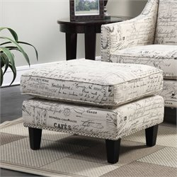 Elements Emery Ottoman in French Script