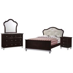Elements Alli 4 Piece Bedroom Set in Walnut