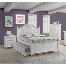 Elements Annie 3 Piece Bedroom Set in White
