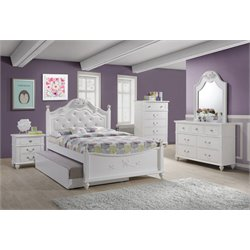 Elements Annie 4 Piece Bedroom Set in White