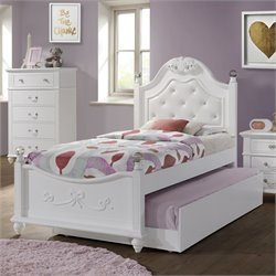 Elements Annie Twin Bed in White