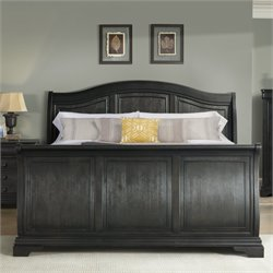 Elements Conley Sleigh Bed in Charcoal