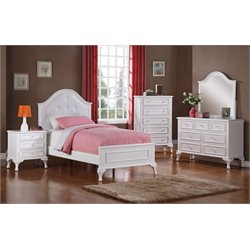 Elements Jenna 5 Piece Bedroom Set in White