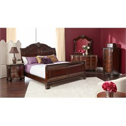 Elements Victoria 6 Piece Sleigh Bedroom Set