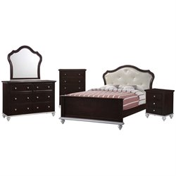 Elements Alli 5 Piece Bedroom Set in Walnut