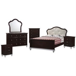 Elements Alli 6 Piece Bedroom Set in Walnut