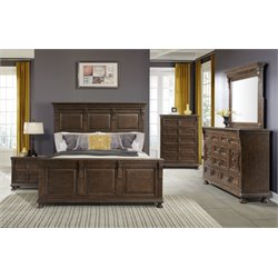 Elements Henry 5 Piece Bedroom Set in Walnut