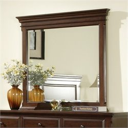 Elements Canton Mirror in Deep Cherry