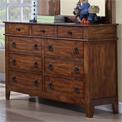 Elements Tucson Youth Dresser in Light Brown Lacquer