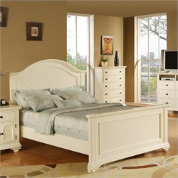 Elements Brook Panel Bed in Cottage White