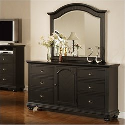 Elements Brook Dresser and Mirror in Black