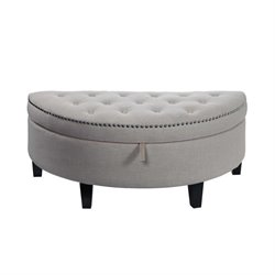 Elements Hazel Storage Ottoman in Heirloom Natural
