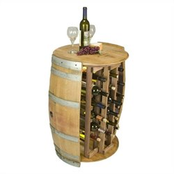 Napa East Collection 28 Bottle Round Wine Rack