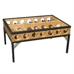 Napa East Collection French Glass Top Coffee Table